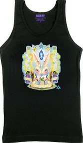 Aaron Marshall Magic Bunny Woman's Ribbed Tank Top Image
