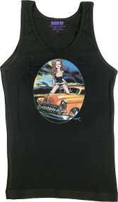 BigToe Red Head Redemption Woman's Baby Doll Tee and Tank Top Image
