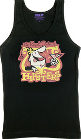 Derek Yaniger Hipsters Womans Baby Doll Tee and Boy Beater Tank Top Image