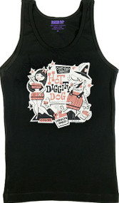 Artist Derek Yaniger Hot Diggity Woman's Baby Doll Tee and Ribbed Tank Top Image