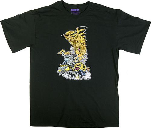 Pizz Hot Rod Tiki T-Shirt Image