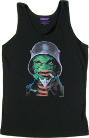 Ben Von Strawn Creatcha Womans Baby Doll Tee and Ribbed Tank Top