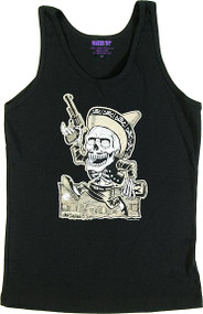 Ben Von Strawn Muertos Womans Baby Doll Tee and Ribbed Tank Top Image