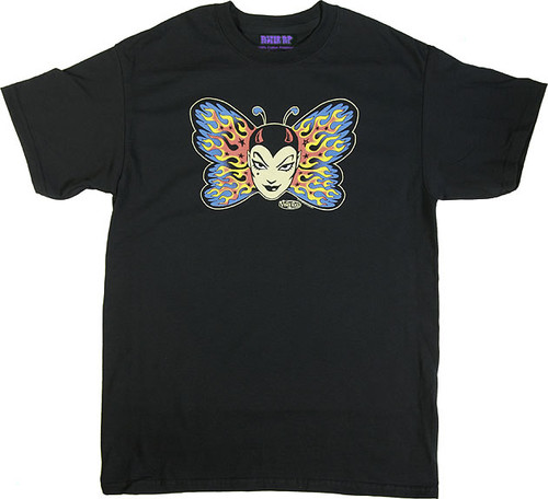 Vince Ray Tattoo Butterfly T-Shirt Image
