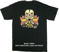 Vince Ray Skull n Guitars T-Shirt