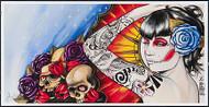 Gustavo Rimada Skull Roses Signed Print Image