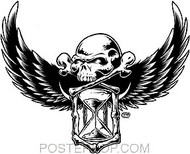 Dirty Donny Skull of Time Sticker Image