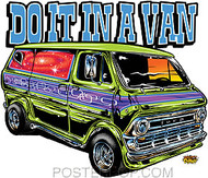 Dirty Donny Do It In a Van Sticker Image