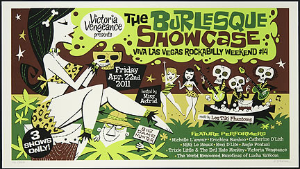 Derek Yaniger VLV14 2011 Burlesque Silkscreen Poster Image