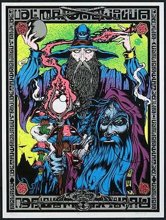 Dirty Donny Alan Forbes Wizards Art Silkscreen Print Poster 2011 Image