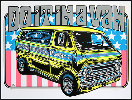 Dirty Donny Do It In a Van Art Print Silkscreen Poster 2011 Image