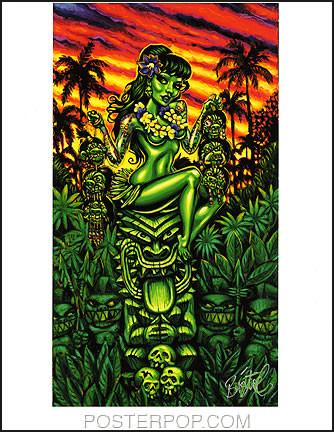 BigToe Head Salesman Hand Signed Artist Print Image