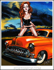 BigToe Red Head Redemption Hand Signed Artist Print Image