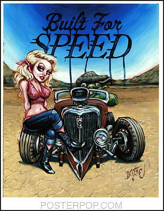 BigToe Built For Speed Signed Artist Print Image