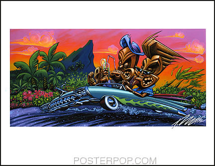 Pizz Come the Weekend We Are All Gods Hand Signed Print 8-1/2 x 11 Image