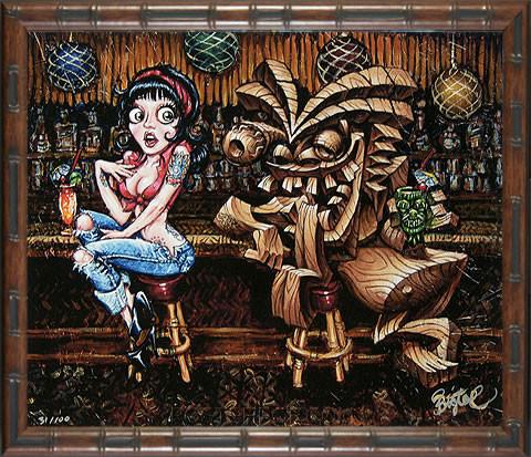 BigToe Rubies Dilemma Fine Art Print Framed Image