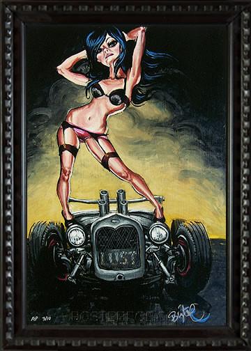 BigToe Lust Fine Art Print Framed Image