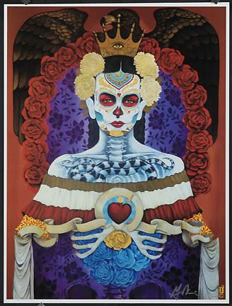 Gustavo Rimada Eagle Heart Hand Signed Print Image