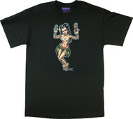 BigToe Lucky Lady Hula Girl T-Shirt Image
