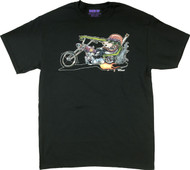 Von Franco Monster Biker T Shirt Image