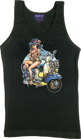 BigToe Lambretta Luau Woman's Baby Doll Tee and Tank Top Image