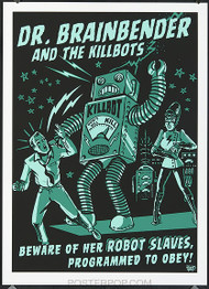Vince Ray Killbot Silkscreen Poster Image