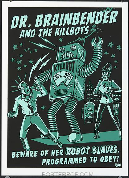 Vince Ray Killbot Silkscreen Poster Image