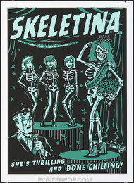 Vince Ray Skeletina Silkscreen Poster Image
