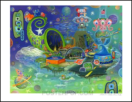 Aaron Marshall Cornucopia Hand Signed Artist Print
