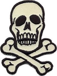 Skull Beige Patch Medium 2.75