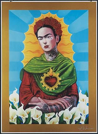 Gustavo Rimada Frida Kahlo Hand Signed Print Image