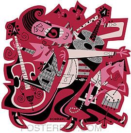 Derek Yaniger Hepcats Sticker Image