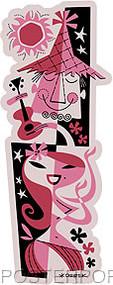 Derek Yaniger Hula Twosome Sticker Image