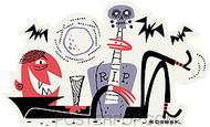 Derek Yaniger RIP Sticker Image