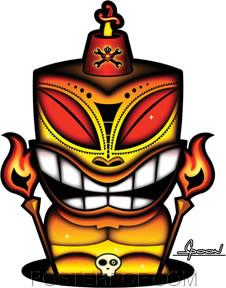 Chico Von Spoon Tiki Sticker Image