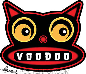 Chico Von Spoon Voodoo Cat Sticker Image