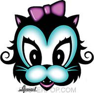Chico Von Spoon Kitty Sticker Image