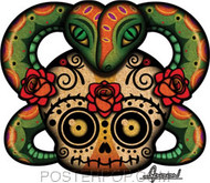 Chico Von Spoon Skull Sticker Image