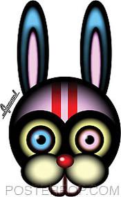 Chico Von Spoon Race Rabbit Sticker Image