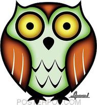 Chico Von Spoon Owl Sticker Image