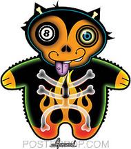 Chico Von Spoon 8 Ball Kitty Sticker Image