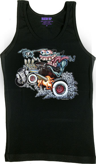 BigToe Monster Hotrod Woman's Baby Doll, Boy Beater, Tank Top Image