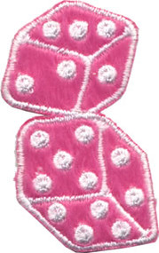 Fuzzy Dice Patch Pink Small 2