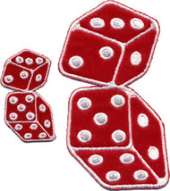 Fuzzy Dice Patch Red 4