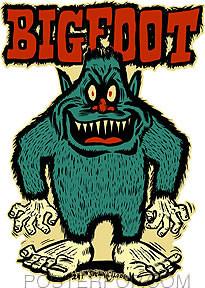 Ben Von Strawn Bigfoot Sticker Image