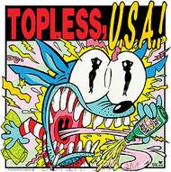 Kozik Topless USA Sticker Image