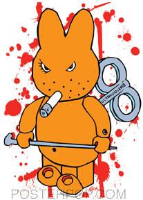 Kozik Ultra Violence Bunny Sticker Image