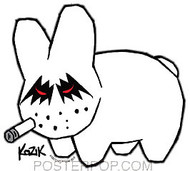 Kozik Metal Labbit Sticker Image