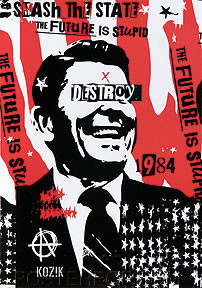 Kozik Reagan Destroy Sticker Image