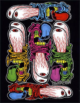 Ben Von Strawn EyeScream Hand Signed Artist Print Image